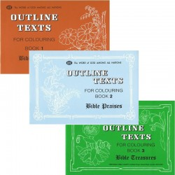 Outline Texts Coloring Book Set 1