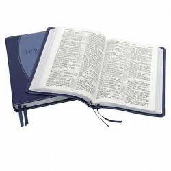 Classic Original Reference & Concordance KJV Bible - TWO TONE BLUE