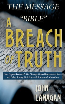 "BOOKLET - The Message ""Bible"" - A Breach of Truth--SECONDS"