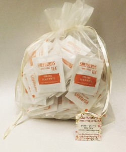 Peach White Bible Verse Tea - Bulk Bags (100 tea bags)