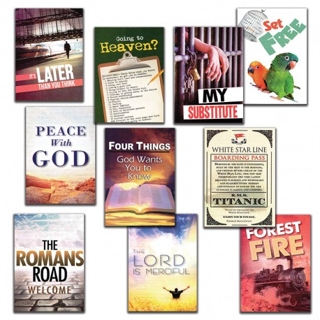 Gospel Tracts Sampler Pack 1 (10 Tracts)