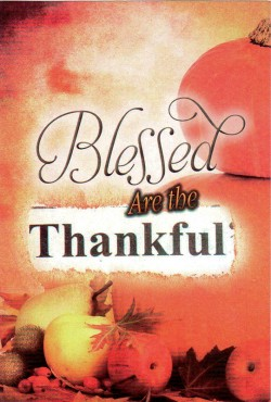 Blessed Are the Thankful - Gospel Tract (10 Pack)